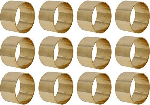 Messing Serviettenring (Messing Serviettenringe 12er Set Gold Runde für Hochzeiten Abendessen Parteien Oder Jeden Tag Benutzen)