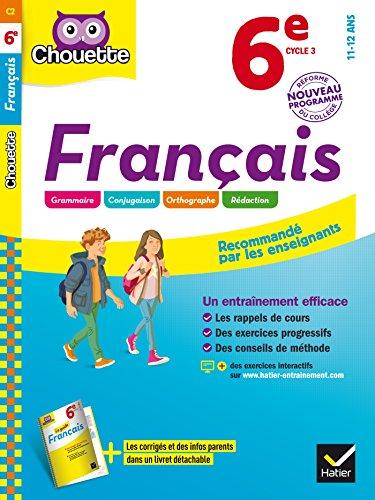 Français 6e: cahier d'entraînement et de révision par Thierry Marquetty