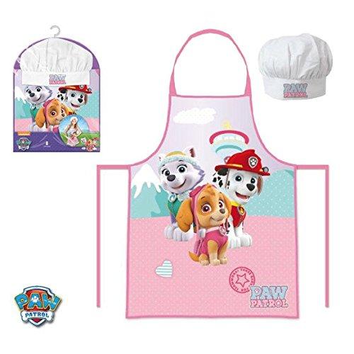 paw-patrol-set-2-pz-cucina-grembiule-cappello-da-chef-bambina-skye-everest-marshall-prodotto-origina