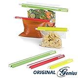 Genius Power Seal Frischhalte-Clips | 6 Teile | Bunt | Verschluss-Klammern für Tüten und Beutel | NEU