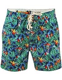 Tokyo Laundry 1S5883 Kuakata Mens Swim Shorts - Green Leaf Print - Large