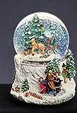 Musikalische Aufleuchten Weihnachten Schneekugel Schnee-Sturm bei Geschenkbox