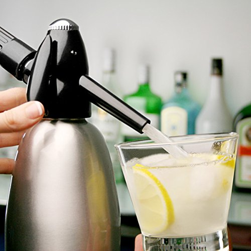 51UpUApS%2BIL. SS500  - bar@drinkstuff Soda Siphon 1ltr - Make Sparkling Water for Mojitos, Gin Fizz Cocktails and Wine Spritzers