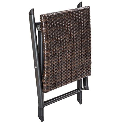TecTake Aluminium Poly Rattan Gartenmöbel | Braun | -verschiedene Modelle- (Typ 1 | no. 402216) - 3