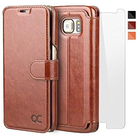 Etui Porte Carte Galaxy S6 - OCASE Coque Samsung Galaxy S6 Porte-cartes [