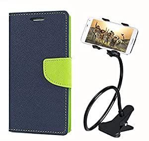 Aart Fancy Diary Card Wallet Flip Case Back Cover For Samsung 9300 - (Blue) + 360 Rotating Bed Tablet Moblie Phone Holder Universal Car Holder Stand Lazy Bed Desktop for by Aart store.