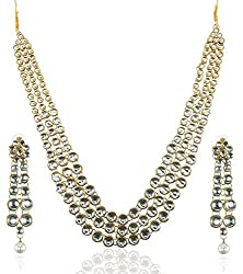 Shining Diva Anushka Sharma Bollywood Inspired Kundan Jewellery Set / Necklace Set With Earrings For Women / Girls