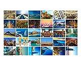 30 PCS exquisite Weltlandschafts-Foto-Postkarten Kreative Kunst-Gruß-Karten, A9
