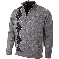2015 PROQUIP 1/2 Zip Lambswool Intarsia Lined Sweater Water Repellent Mens Golf Pullover