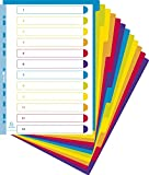 Campus A4+ Extra Wide 12 Part Plastic Polypropylene Translucent Dividers