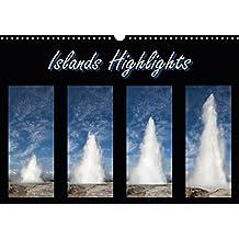 Islands Highlights (Wandkalender 2018 DIN A3 quer): Island, das Land aus Feuer und Eis von seiner schönsten Seite. (Monatskalender, 14 Seiten) (CALVENDO Orte) [Kalender] [Apr 01, 2017] Scholz, Frauke