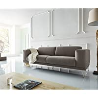DELIFE Sofa Lordina Grau 220x90 Cm Bauhausstil Füße Metall ...