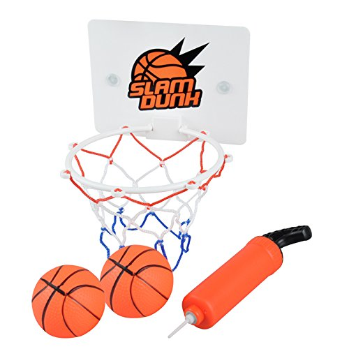 Milkee Innenminibasketballkorb beim Büro Zimmer Mini Basketball Brett Kinder Freizeit Sport mit Ball und Pumpe