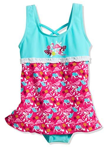 Playshoes Mädchen Uv-Schutz Rock Flamingo Badeanzug, Türkis 15, 110 (Herstellergröße: 110/116)