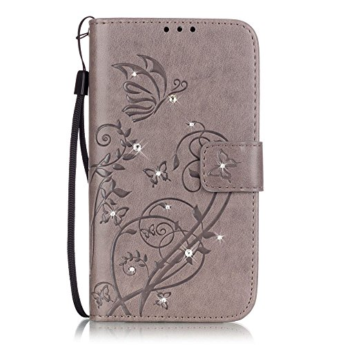 Nutbro iPhone 7 Wallet Case,iPhone 7 Case Luxury Flip Cover Holster Embossed Flower Pattern PU Leather Wallet Built-in Card Slots Stand With lanyard Protection Mobile Phone Bag Case YB-iPhone-7-238