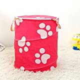 #10: Kudos Multipurpose Foldable Collapsible Pop-Up Round Laundry Bag Basket with Zippered Lid and Carry Handle (Random Colors and Patterns)
