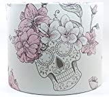 Sugar Skulls Lampshade Ceiling Light Shade 10 Inch Drum Pink Rose Girls Pink Bedroom Accessories Gifts
