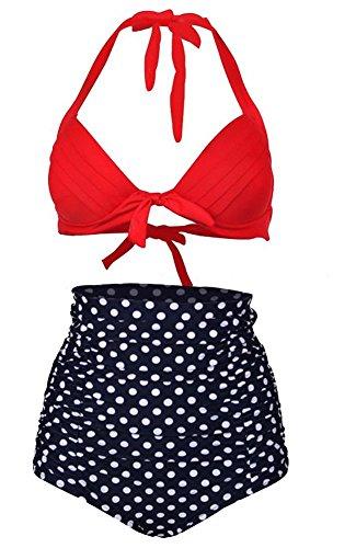 Spring Fever Retro 50s elegante Vintage Alta Cintura bikini traje de b