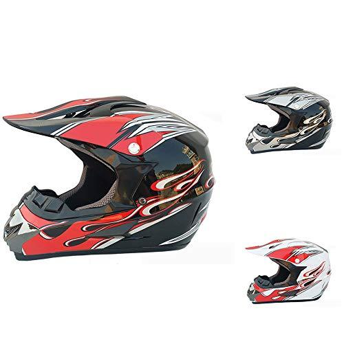 SSYWX Moto Fuoristrada, Casco Da Mountain Bike Casco Integrale, Casco Fuoristrada Per Quattro Stagioni, Omologato ECE, S-XL (52-59) (Style 3,XL)