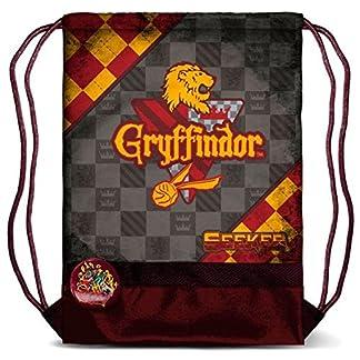 51UpbWK5PaL. SS324  - Harry Potter KM-37636 2018 Bolsa de Cuerdas para el Gimnasio, 40 cm