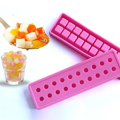 palla di ghiaccio vassoi del cubo muffa del ghiaccio Mini silicone 20 cavità dello stampo Ice - muffa DIY per i bambini con Candy budino di gelatina di latte stampo succo di frutta o cocktail & particelle di whisky rosa