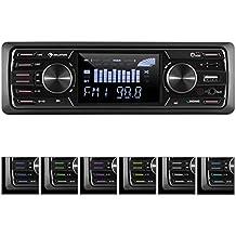 "auna • MD-350BT • Radio para coche • Hi-Fi Set • Sin cubierta • Bluetooth • USB 2.0 • SD • MMC • Sintonizador FM AM • MP3 WMA• 4x45W Potencia máx. • Pantalla LCD 3"" • Entrada Aux 3.5 mm • Mando a distancia • 2 salidas RCA estéreo de línea"