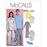 McCall's Patterns m5992Taille Y XS–S–M Tailles/hommes/Teen Boys 'Tops, chemise femme et Survêtement pour chien, lot de 1, Blanc