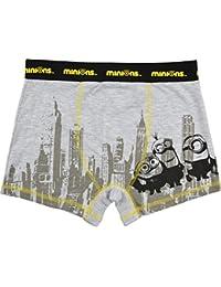 Boxer shorts Minions/diseño de Nueva York, color gris