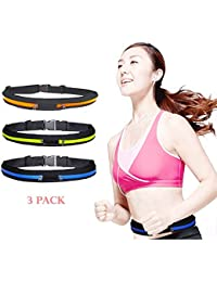 New In Imported Product Running Belt Waist Pack (3 Pack) - Waterproof Zipper Pouch - Fitness Equipment For Runner...