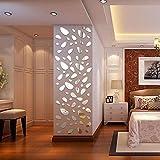 3D modern Wasserdicht Tapete, NINGSANJIN Acryl spiegel Wandaufkleber Wandtattoo Papier Abnehmbare selbstklebend Tapete für Schlafzimmer Wohnzimmer moderne Hintergrund TV-Decor Unregelmäßige Punkte Silber