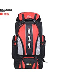 Mochila Outdoor Outdoor montañismo sacos a granel 100l mochila de viaje Deportes de hombres y mujeres de rojo 90