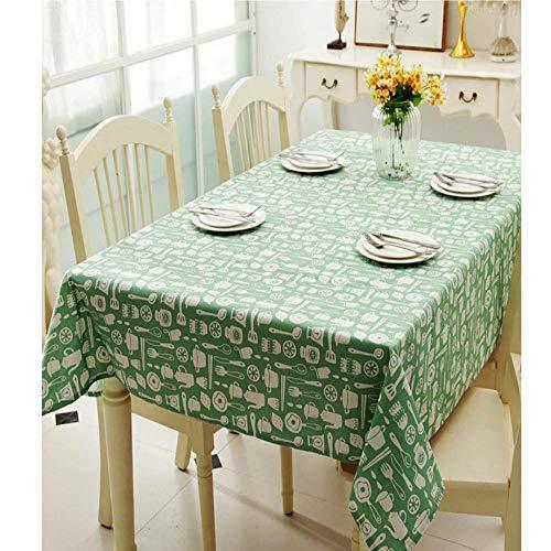 BH-JJSMGS küchentischplatteBuffet Dekoration Mode, grün kleine frisch Bedruckte tischdecke rechteckige tischdecke waschbar Anti-foulingstaubtuch 100 * 140 cm