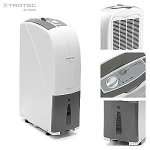 Trotec TTK 30 S 1.6L 40dB 210W Grey,White dehumidifier - dehumidifiers (210 W, 230 V, 50 Hz, 40 dB, Grey, White, 160 mm)