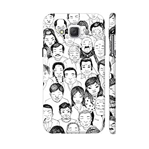 Colorpur People Sketch In Black And White Designer Mobile Phone Case Back Cover For Samsung Galaxy E5 | Artist: Pritpal Singh