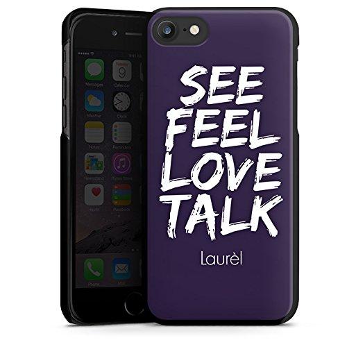 Apple iPhone X Silikon Hülle Case Schutzhülle Laurèl See Feel Love Sprüche Hard Case schwarz