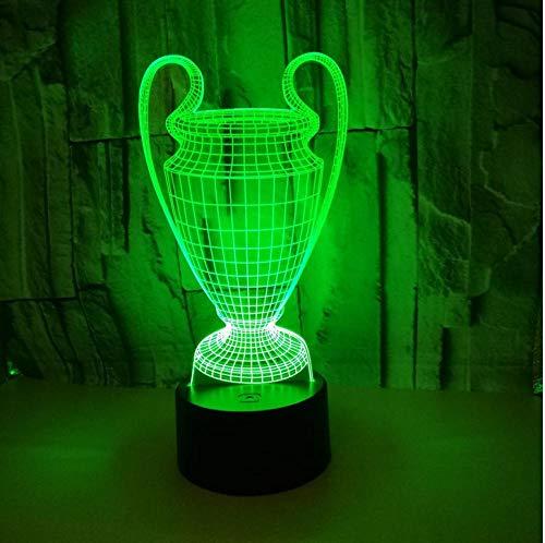 Geschenke 3D Kleine Nachtlampe Trophäe 7 Farbe Touch Led 3D Led Nachtlicht Weihnachtsdekor Usb Led Kinder Lampe Fernbedienung