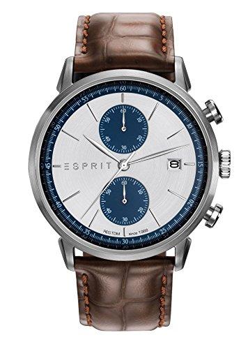 Esprit Herren Chronograph Quarz Uhr mit Leder Armband ES109181001 (Herren-leder - New York)