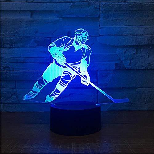 Pbbzl Bunte Nachtlampe Des Hockeys Führte Dekoration Geführtes Eishockey Der Lampen-3D