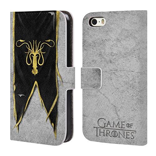 Offizielle HBO Game Of Thrones Targaryen Sigil Flags Brieftasche Handyhülle aus Leder für Apple iPhone 6 Plus / 6s Plus Greyjoy