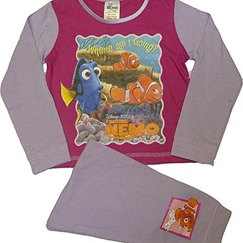 Disney Childrens Girls Finding Nemo Fish Friends Long Sleeve Top & Bottoms Pyjama Set (18-24 months, Where Am I