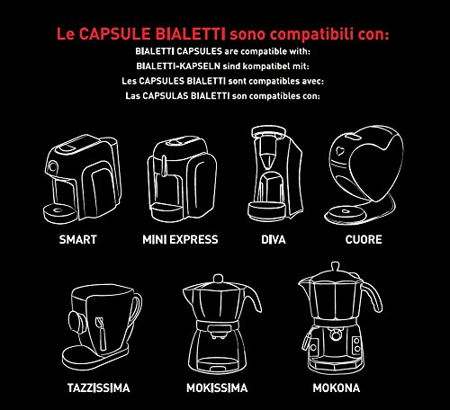 Choose Packaging 16 capsules Bialetti Rome strong taste The cafes of Italy from Bialetti