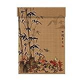 WUFENG Bambus Rollo Schatten Isolierung Rollender Verschluss Japanisch-Stil Drucken Hintergrund Eingang Abgeschnitten Geruchlos Umweltschutz Türvorhang (Farbe : F, Größe : 60x200cm)