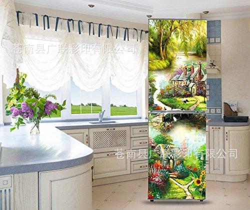 Preisvergleich Produktbild HHY-Europäische abnehmbare Wasserdichte selbstklebende Kühlschrank Sticker