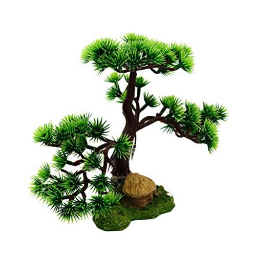Balacoo künstliche Kiefer Harz Pflanze Dekor für Aquarium Bonsai Ornament