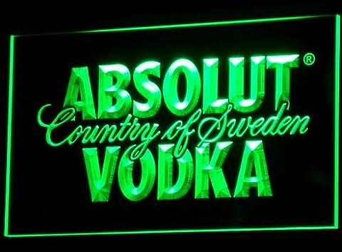 Absolut Vodka LED Zeichen Werbung Neonschild Grün (Werbung Absolut Vodka)