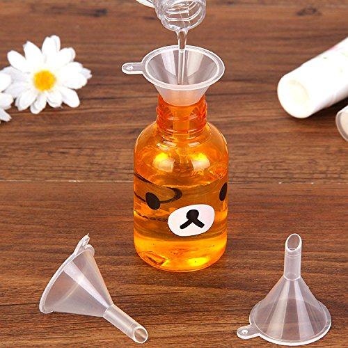 EQLEF® 12 PCS Mini-Kunststoff-Trichter mit einem Haken für das Füllen Kleine Volum Flasche