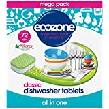 Ecozone Dishwasher Tablets Classic All In One pack of 72