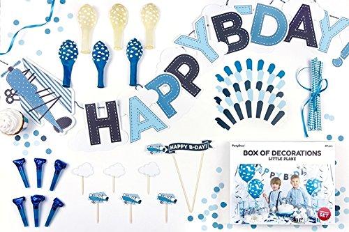 (Unbekannt PartyDeco Set Geburtstag Happy Birthday Junge Dekoration Little Plain Flugzeug)
