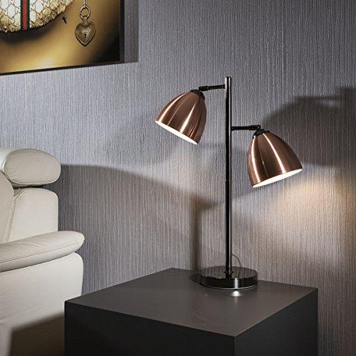 elegant-modern-side-table-desk-lamp-light-bedside-2-x-copper-shades-os