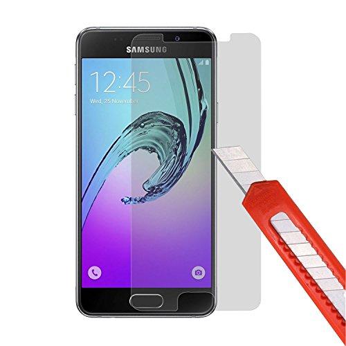 Preisvergleich Produktbild PLT24 Samsung A3 2016 Panzerglas Schutzglas 9H Hartglas Glasfolie Displayschutzglas Schutzfolie Display Panzer Glas Folie Sicherheitsglas für Samsung Galaxy A3 ( 2016 )